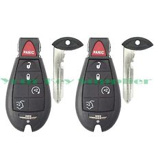 2 New Uncut Replacement Fobik Key Fob Keyless Remote Clicker Remote for Jeep