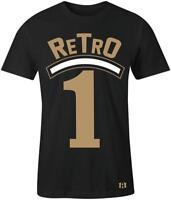 """""""Retro 1"""" T-shirt to Match Retro """"GOLD TOE"""" 1's"""