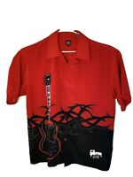 Gibson Tour Wear by Dragonfly Mens Camp Shirt Loop Collar Size XL