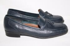Naturalizer Leo Navy Blue Loafers Tassels Brown Shoes Womens Size 7M (A50)