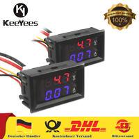 2 Stück Digital LED Amperemeter Modul Voltmeter Spannung Amperemeter DC 0-100V