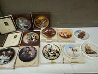 Lot Of 11 Knowles Norman Rockwell Collector Plates W/ Original Boxes
