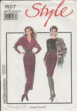 out-of-print:  Style 1607 pattern, Schnittmuster,  sizes 8-10-12,  Gr. 36 - 40