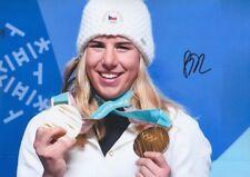 ESTER LEDECKA 2 Olympia 2018 Gold Foto 20x30 signiert IN PERSON Autogramm RAR