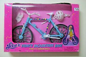 Excite's Lisa's Fancy Mountain Bike, fits Barbie and friends, NIB, blue