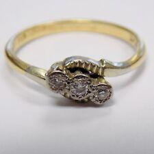 Illusion Set Trilogy Diamond Ring Size M 1/2 2.5g
