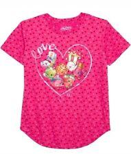 nwt girls size large (10- 12) shopkins summer tshirt pink Valentine's Day