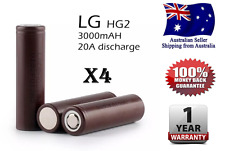 4x LG HG2 18650 3000mAh High Current 20A Rechargeable Lithium Battery