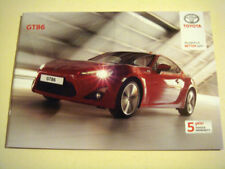 Toyota Car Sales Brochures GT Brochures