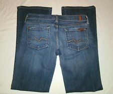 7 for all Mankind 7FAM Dark Wash Bootcut Ankle/Short Jeans Womens 26 x 29.5