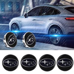 4x Floating LED 60mm illuminated Wheel Rim Center Cap for Subaru Impreza Legacy