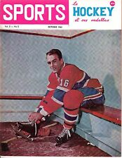 1963 (Oct.) Sports Le Hockey Magazine, Henri Richard, Montreal Canadiens ~ VG