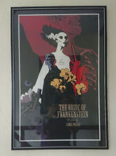 BRIDE OF FRANKENSTEIN by MIKE MIGNOLA  - Rare SOLD OUT Mondo Poster FRAMED