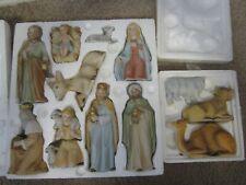 Vintage Homco Porcelain Christmas Nativity Set - Home Interiors 12 Pieces
