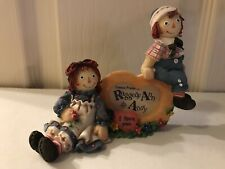 Raggedy Ann & Andy Figurine - Forever True - Signage Piece Photo Frame