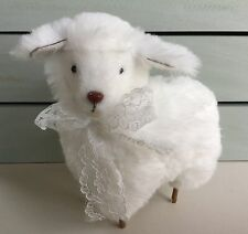 Super moelleux doux agneau blanc Décoration de Pâques Décoration Gisela Graham VINTAGE