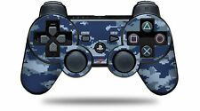 Skin for PS3 Controller WraptorCamo Digital Camo Navy CONTROLLER NOT INCLUDED