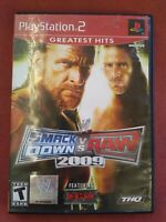 WWE SmackDown vs. Raw 2009 Featuring ECW (PlayStation 2 PS2) Complete -