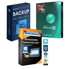 Windows Password Remover & Acronis 2019 True Image & Kaspersky on 4GB Flash Driv