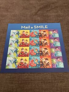 """Two """"Mail a Smile"""" stamp sheets - Twenty forever stamps on each sheet"""