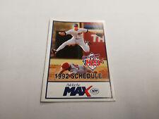 Oklahoma City 89ers 1992 Minor Baseball Pocket Schedule - Max/Local Federal Bank