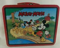 Mickey Mouse 1997 Disney Series #2 School Bus Lunch Box Goofy Donald Pluto Daisy