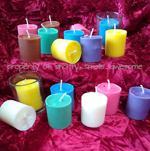 100% Soy Candle Votive Candles Scented Bakers Dozen 13 Choice Scent F - M