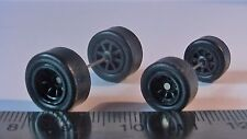 HOT WHEELS RUBBER TIRES 8 SPOKE BLACK NEW REAL RIDERS BIG & SMALL