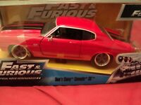 Jada Dom's 1970 Chevrolet Chevelle SS  NIB 1/24 scale Fast & Furious  red e