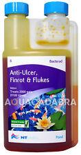 NT Labs Bacterad Anti Ulcer Finrot & Fluke Treatment Garden Pond Water Fish Koi