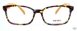 Prada  PR18T TH6 MULTI COLOR BURGUNDY  Eyeglasses  New Authentic 53