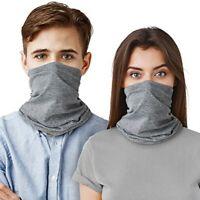 2 Pack Neck Gaiter Bandana Face Mask Tube Scarf Balaclava Headband Sun Shield UV