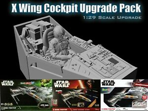 Cockpit with Seat & Pilot for 1/29 Scale Star Wars Revell X-Wing Kit