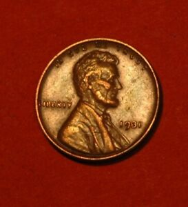 1931 P Lincoln wheat penny EXTREMELY FINE/ABOUT UNCIRCULATED nice small cent