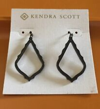 KENDRA SCOTT Sophia Drop Dangle Earrings Metallic Gunmetal Gray Black BOHO NEW