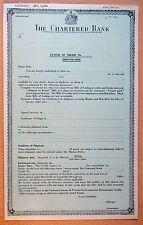 UK GB ENGLAND The Chartered Bank, Letter of Credit proof specimen Bradbury 1974