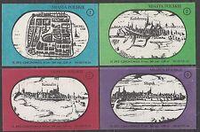 POLAND 1975 Matchbox Label - Cat.G#393/400 set, Cities Polish Recovered Territor