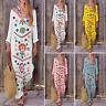 ZANZEA Womens Floral Long Sleeve Beach Sun Dress Kaftan Tunic Maxi Shirt Dresses