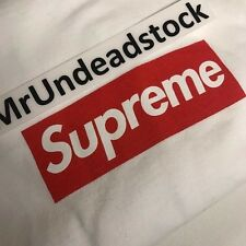Supreme x 20TH Anniversary Red Box Logo BOGO White T-Shirt Tee Sz Large New