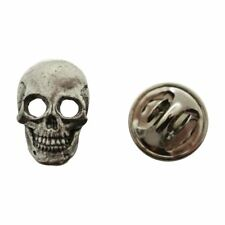 Skull Mini Pin ~ Antiqued Pewter ~ Miniature Lapel Pin