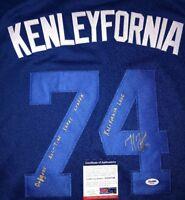 "KENLEY JANSEN ""KENLEYFORNIA""  DODGERS SIGNED JERSEY Autographed PSA/DNA COA"
