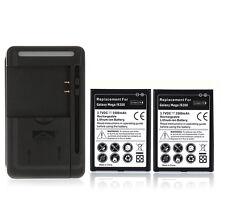 2x Battery 3500mAh + USB Wall Charger for Samsung Galaxy Mega 6.3 i9200 I 9200