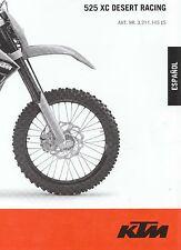 2007 KTM 250-400-450-525 OWNER MANUAL IN SPANISH ESPANOL