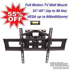 "LCD LED TV Wall Mount 23""~65"" Tilt Swivel Full Motion Dual Arm VESA up 600x400mm"