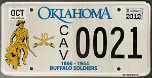 USA Nummernschild - OKLAHOMA BUFFALO SOLDIERS 1866 - 1944 US KENNZEICHEN SCHILD