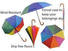Rainbow Umbrella Non Drip Retractable Plastic Cover - Automatic & Wind Resistant