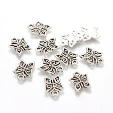 Butterfly Charms Tibetan Silver  Pendant 17mm x 25mm Pack of 20