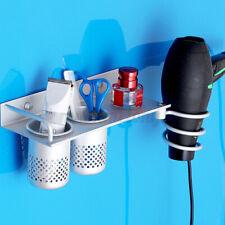 Bathroom Shower Storage Shelf Wall Mounted Hair Dryer Holder Rack Organizer *