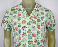 Medgear Scrub Top Green V Neck Medium Uniform Handbags Purses