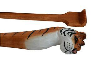 Back Scratcher for Men Women Wooden Backscratcher Handcrafted Animal Lover Tiger